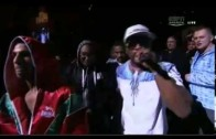 "50 Cent ""Walks Billy Dib Into Ring, Performs ""New Day"""""