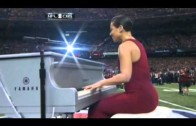 "Alicia Keys ""Sings National Anthem at Super Bowl XLVII"""