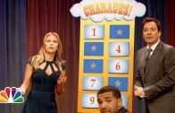 Drake Plays Charades With Scarlett Johansson On Jimmy Fallon