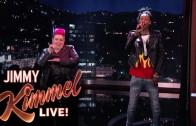 Wiz Khalifa Joins Jimmy Kimmel For Sign Language Rap Battle