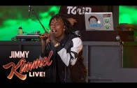 "Wiz Khalifa Performs ""We Dem Boyz"" On Jimmy Kimmel Live"